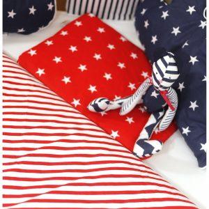 Płaska poduszka w gwiazdki do wózka kołyski łóżeczka