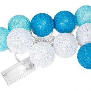 Cotton balls niebieskie