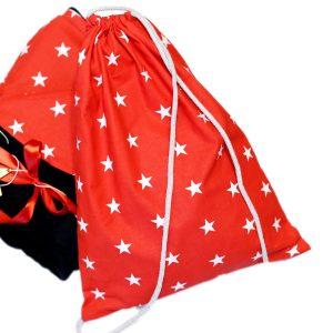 Worek plecak na drobiazgi marynarski czerwony