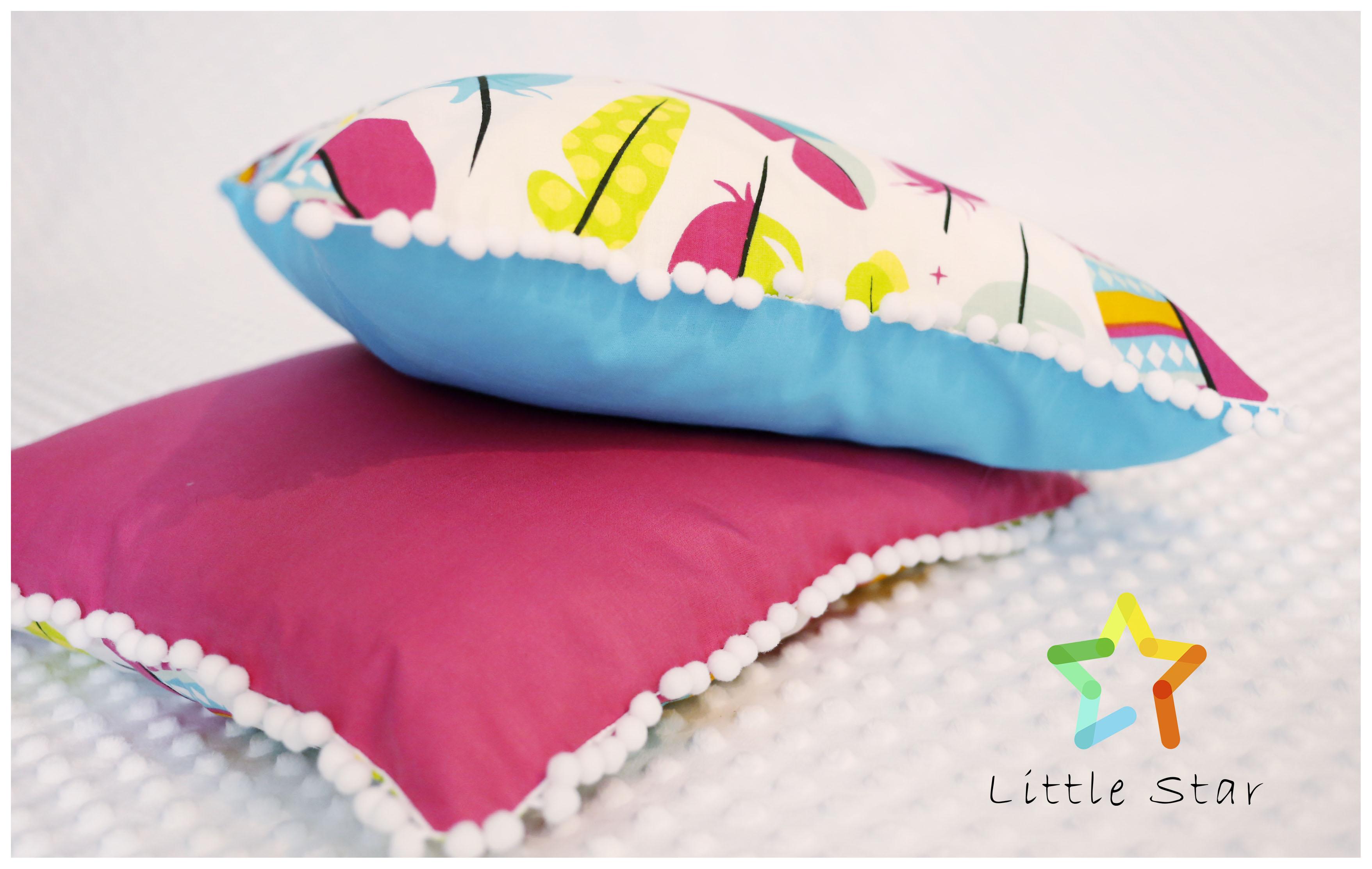 poszewka na poduszkę piórka malinowy róż